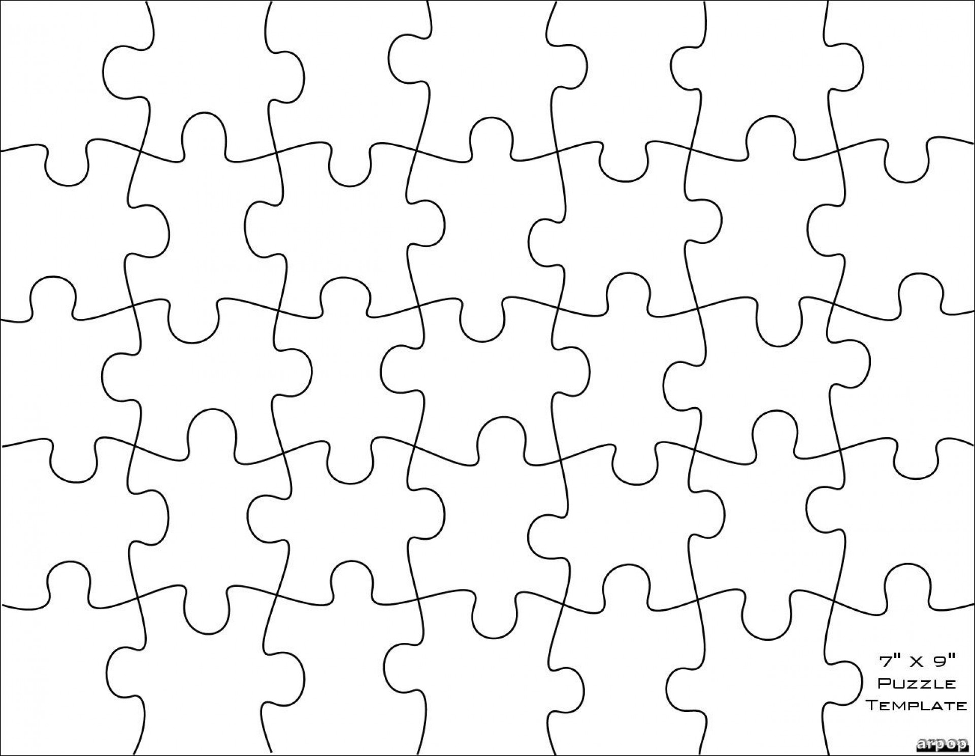 006 Jigsaw Puzzle Blank Template Twenty Pieces Simple Jig Saw - Printable Jigsaw Puzzle Maker