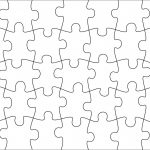 006 Jigsaw Puzzle Blank Template Twenty Pieces Simple Jig Saw – Printable Puzzle Blank