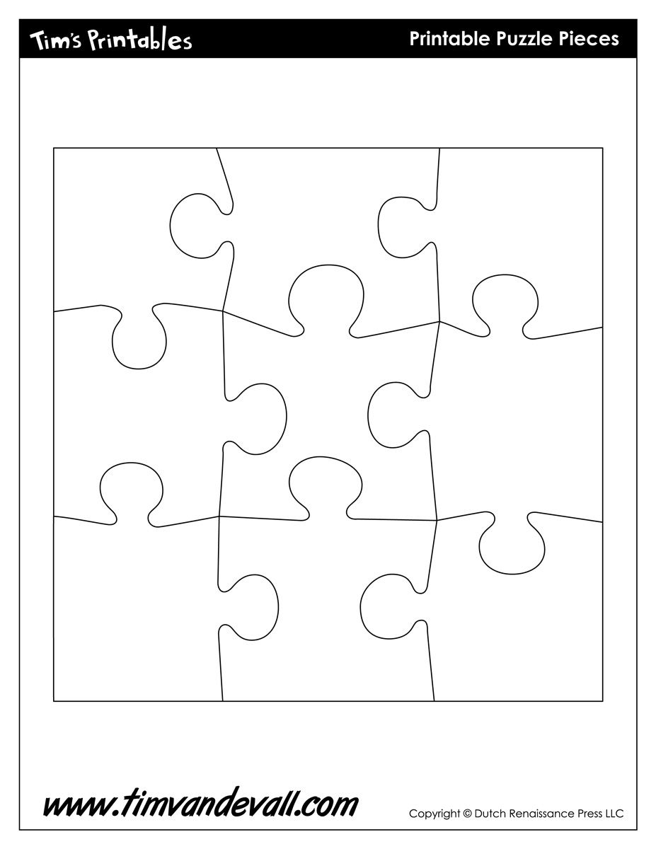 009 Blank Puzzle Pieces Template Best Ideas 9 Piece Jigsaw Pdf 6 - Printable Puzzle Pdf