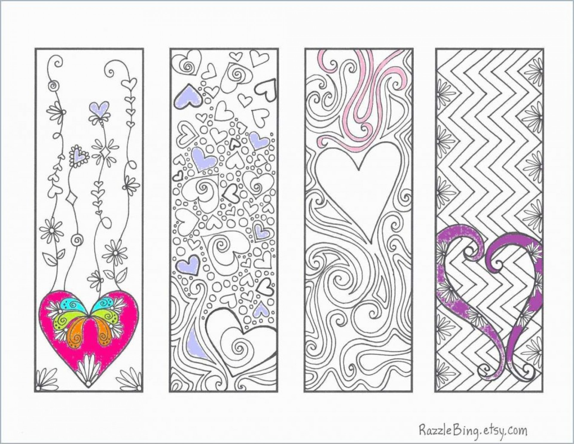 014 Template Ideas Free Printable Bookmark Templates Baby Unicorn - Printable Razzle Puzzles