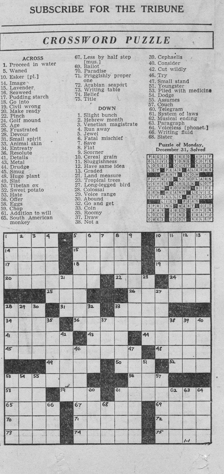 photo relating to Printable Thomas Joseph Crossword Puzzle for Today titled Printable Crossword Puzzles - Element 38