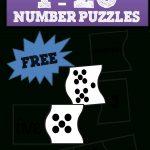 1 20 Number Puzzles | School | Numbers Kindergarten, Preschool Math   Printable Number Puzzles For Kindergarten