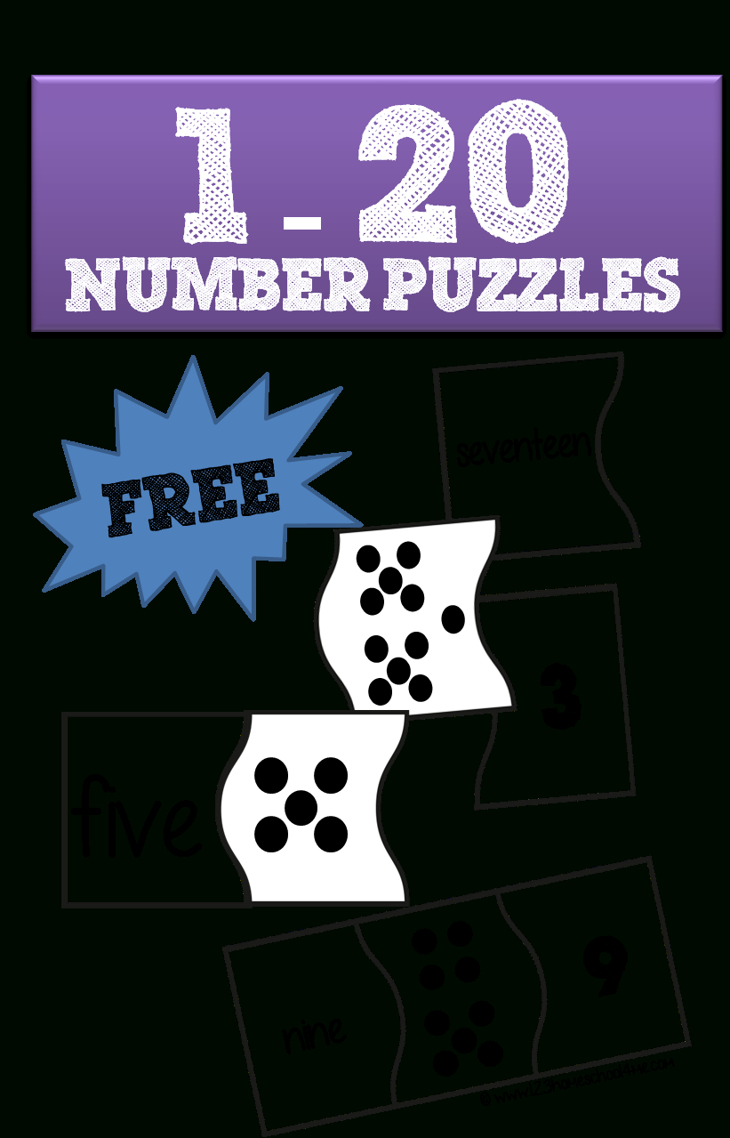 1-20 Number Puzzles | School | Numbers Kindergarten, Preschool Math - Printable Number Puzzles For Kindergarten
