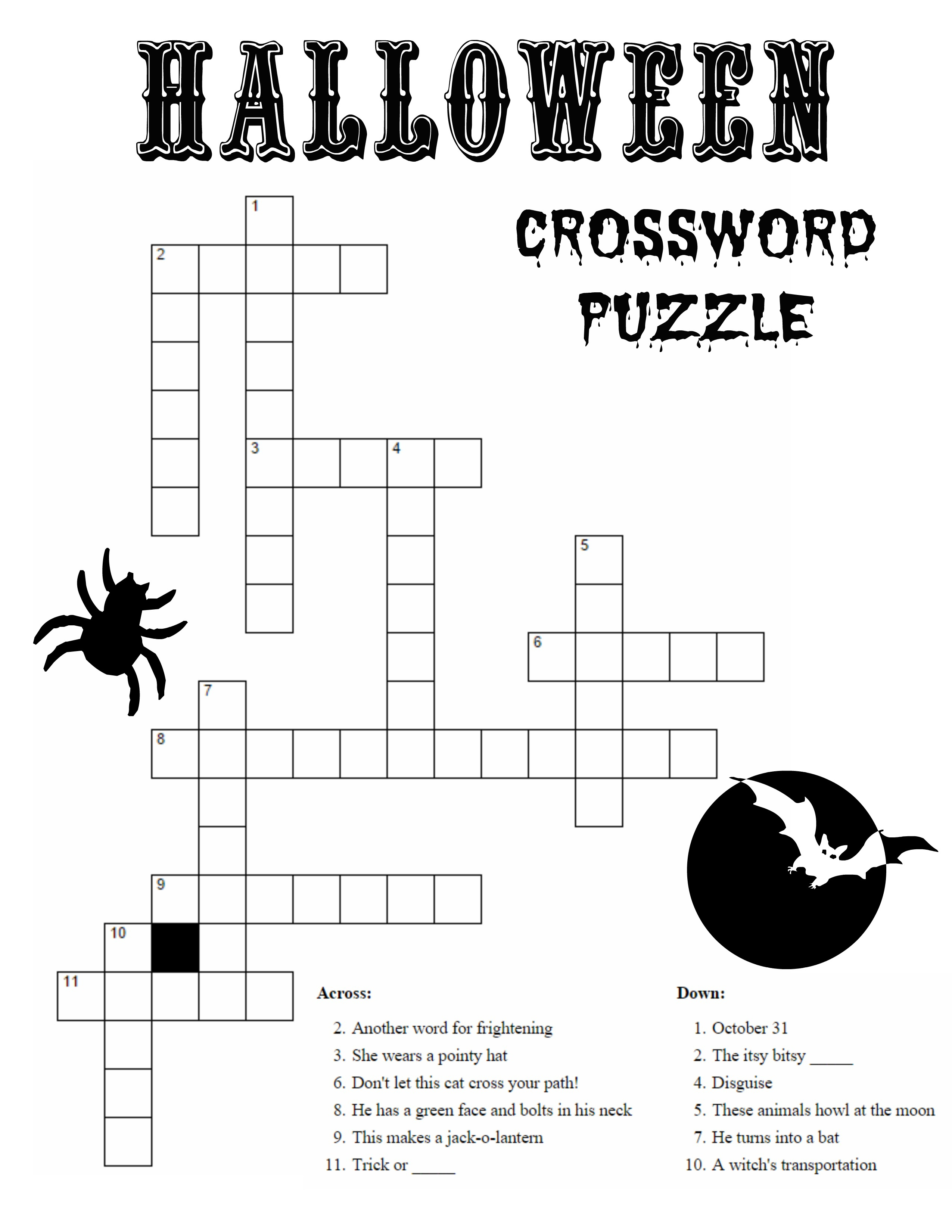 10 Best Photos Of Printable Halloween Word Puzzles - Halloween Word - Printable Crossword Puzzles Halloween