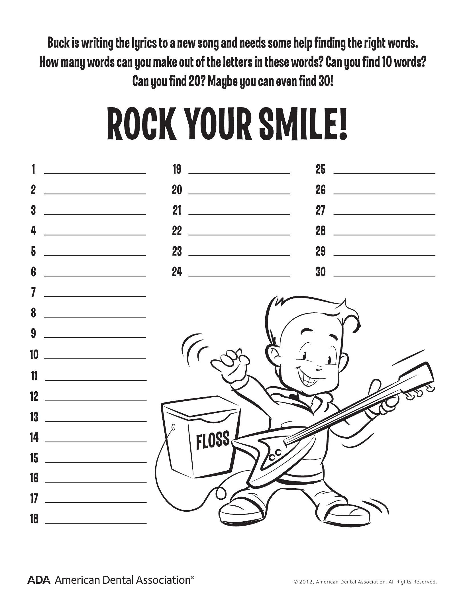 11 Dental Health Activities – Puzzle Fun (Printable) | Personal Hygiene - Printable Puzzle Activities For Adults