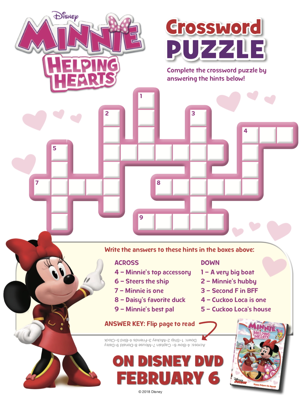 11 Fun Disney Crossword Puzzles | Kittybabylove - Printable Crossword Puzzles Disney Movies