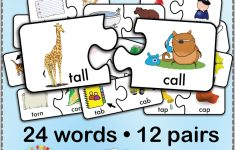 12 Minimal Pairs Of /t/ And /k/ Words Are Converted Into 24 Puzzle – K Print Puzzle