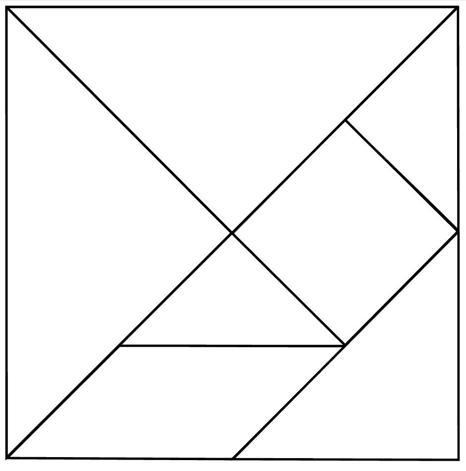 14 Best Images Of Kindergarten Tangram Worksheets - 7 Piece Tangram - Printable Tangram Puzzle Pieces