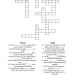 15 Best Photos Of Esl Printable Worksheets Crossword   Printable   Printable English Vocabulary Crossword Puzzle
