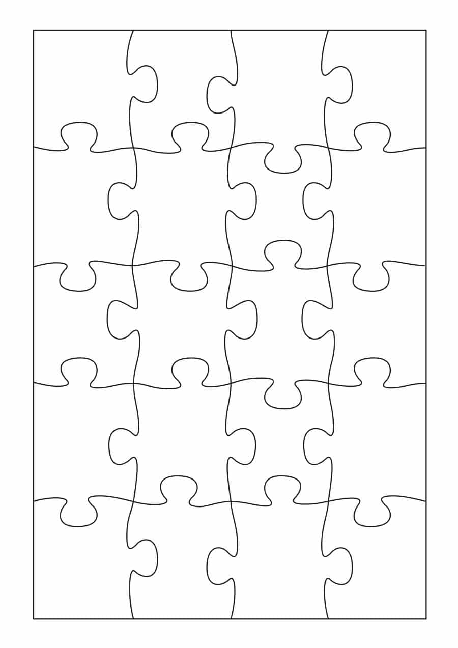19 Printable Puzzle Piece Templates ᐅ Template Lab - Printable Blank Jigsaw Puzzle Outline