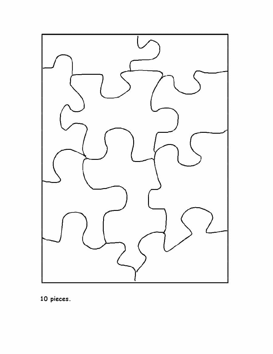 19 Printable Puzzle Piece Templates ᐅ Template Lab - Printable Interlocking Puzzle Pieces