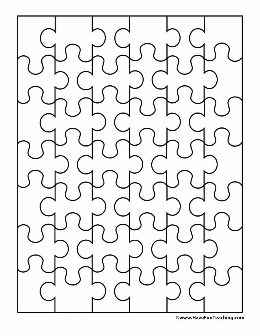 19 Printable Puzzle Piece Templates ᐅ Template Lab - Printable Puzzle Template 11X17
