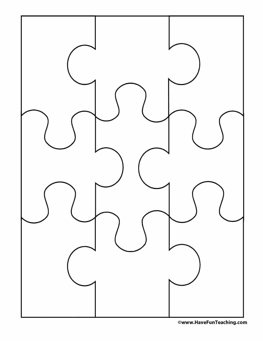 19 Printable Puzzle Piece Templates - Template Lab - Free Printable - Printable Puzzle Blank
