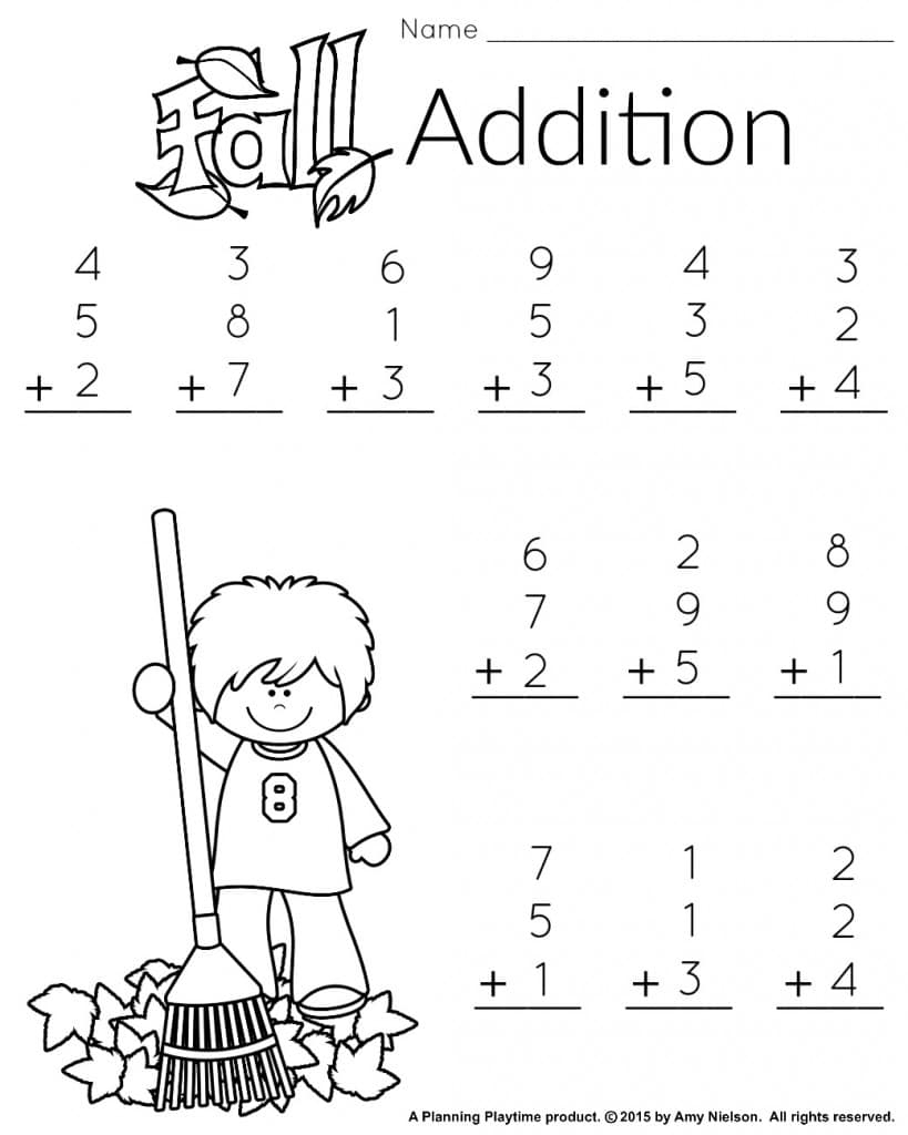 1St Grade Math And Literacy Worksheets With A Freebie! - Planning - Printable Puzzles For First Grade