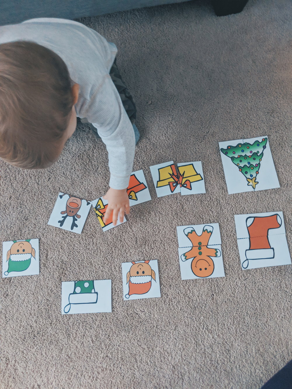 2-Piece Christmas Puzzles With Free Printable — Moments With Miss - Printable 2 Piece Puzzles