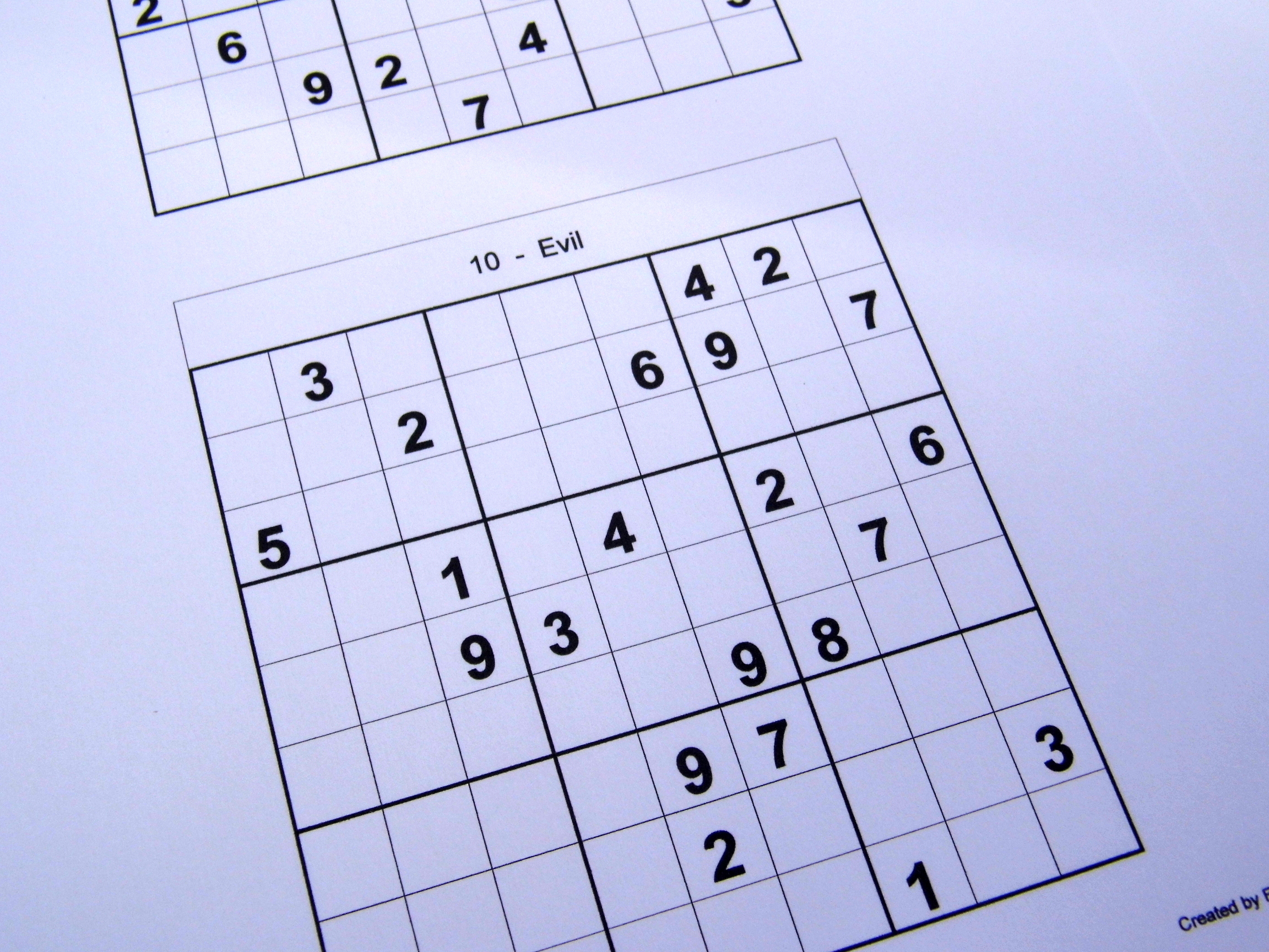 2 Puzzles Per Page – Free Sudoku Puzzles - Printable Sudoku Puzzles 2 Per Page