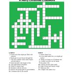 20 Fun Printable Christmas Crossword Puzzles | Kittybabylove   Christmas Printable Crossword Puzzles Adults