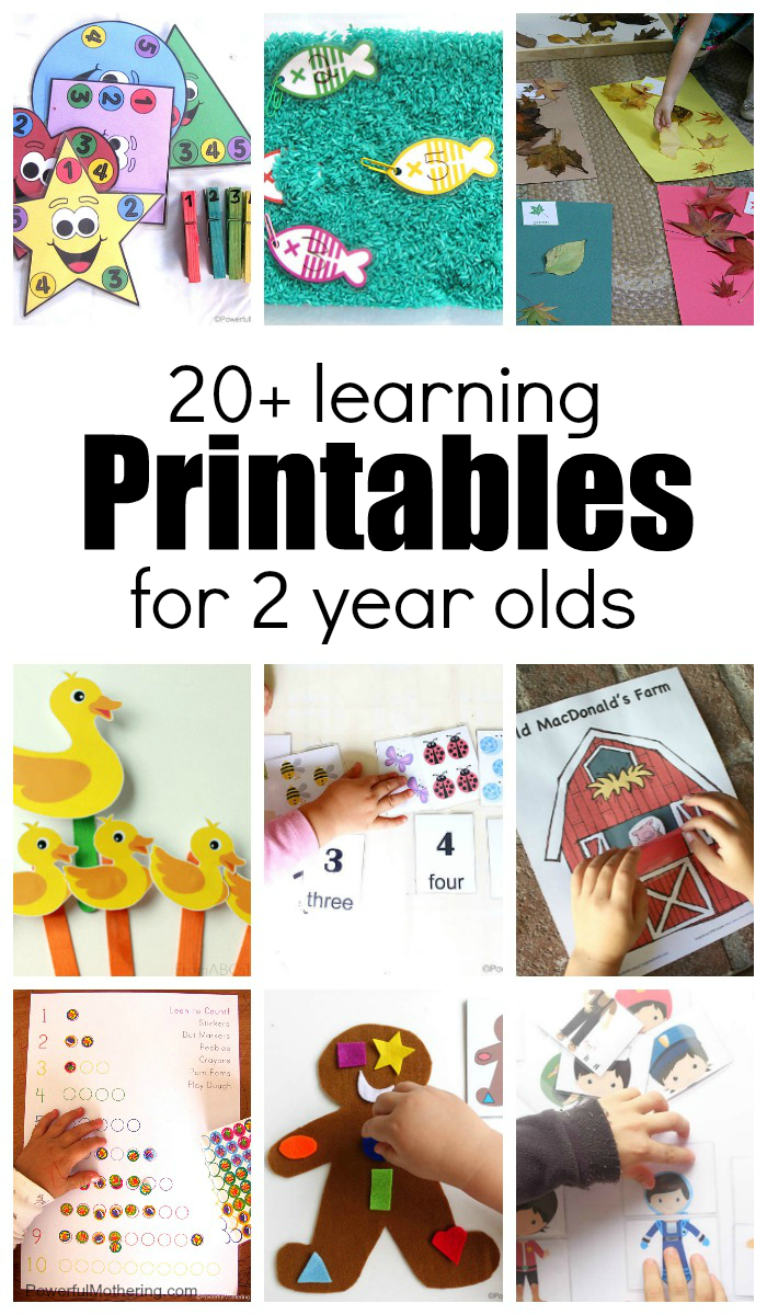20+ Learning Activities And Printables For 2 Year Olds - Printable Puzzles For 2 Year Olds