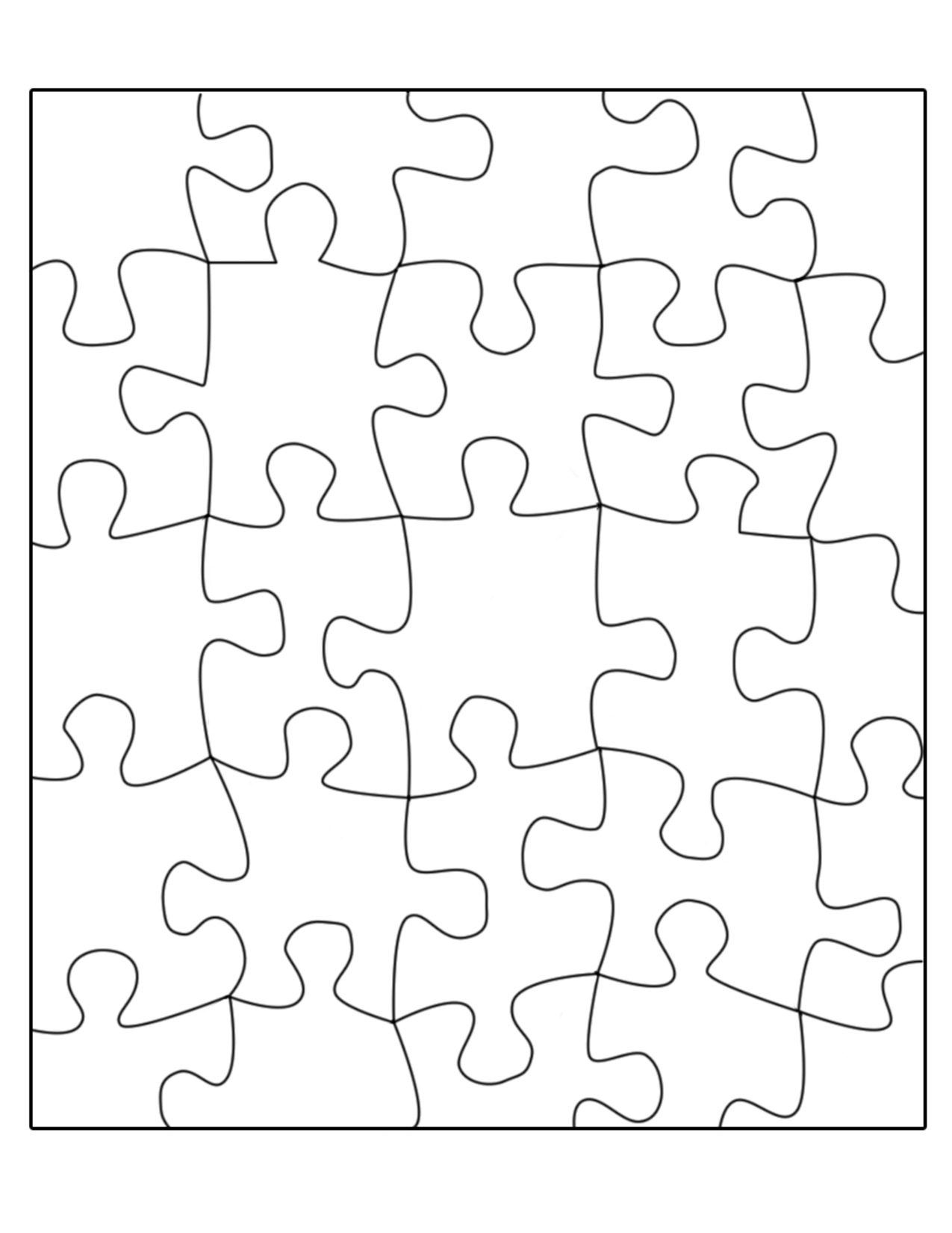 29 Images Of 16-Piece Jigsaw Puzzle Template 8.5X11 | Sofond - Printable Puzzle Template 8.5 X 11