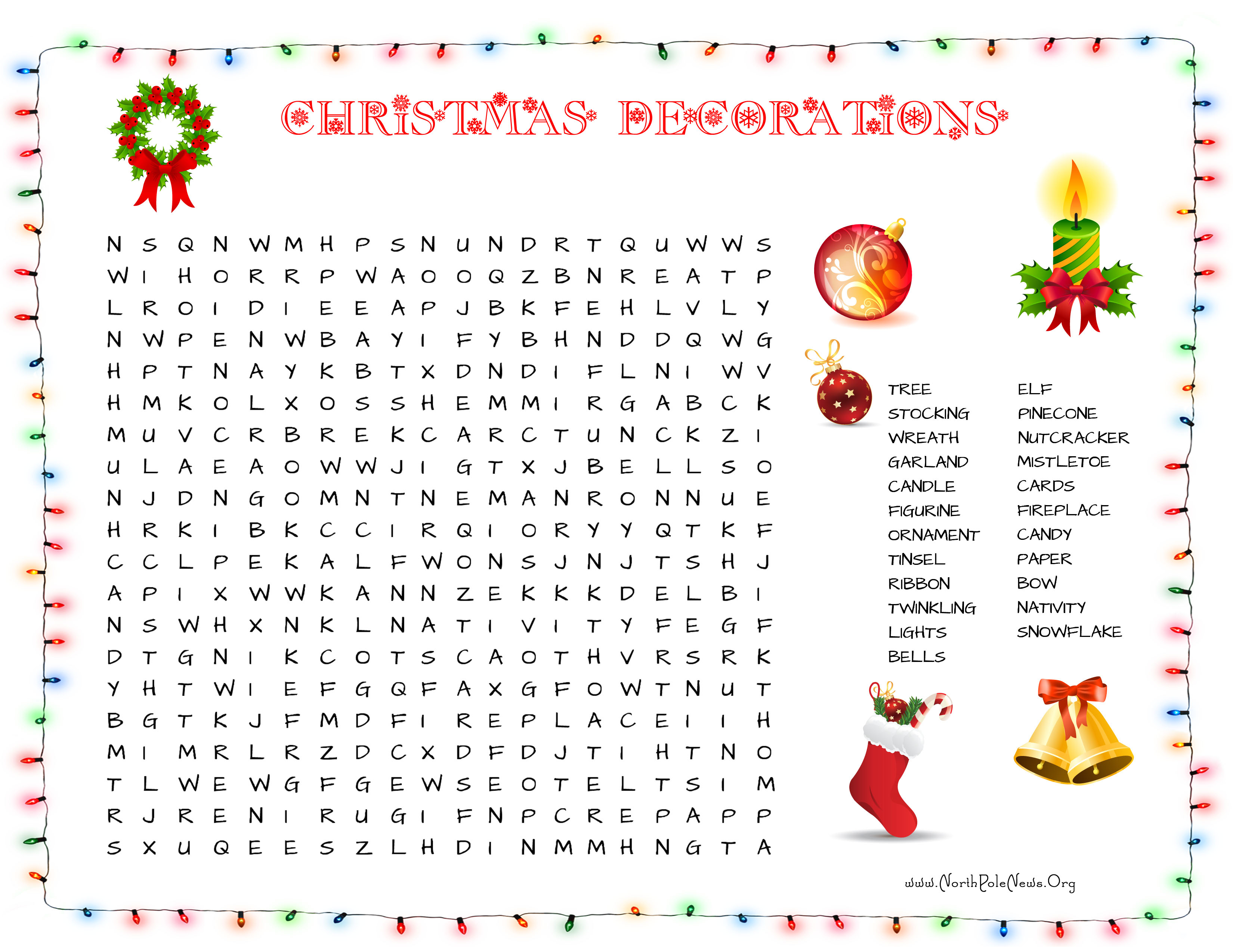 31 Free Christmas Word Search Puzzles For Kids - Printable Xmas Puzzles