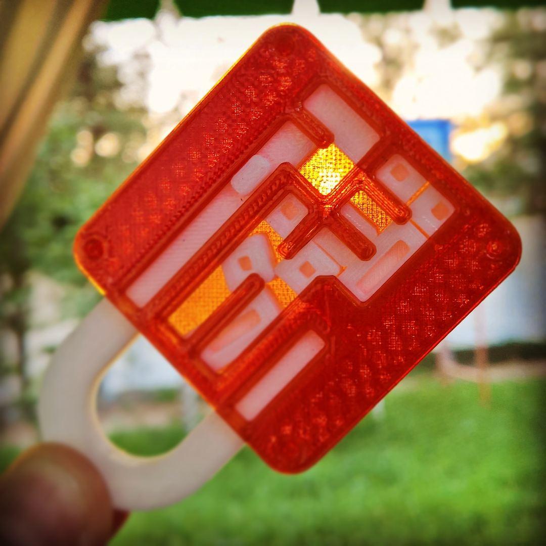 3D Printable Puzzle Lock // Sliding Puzzleanders Severinsen - 3D Printable Lock Puzzle