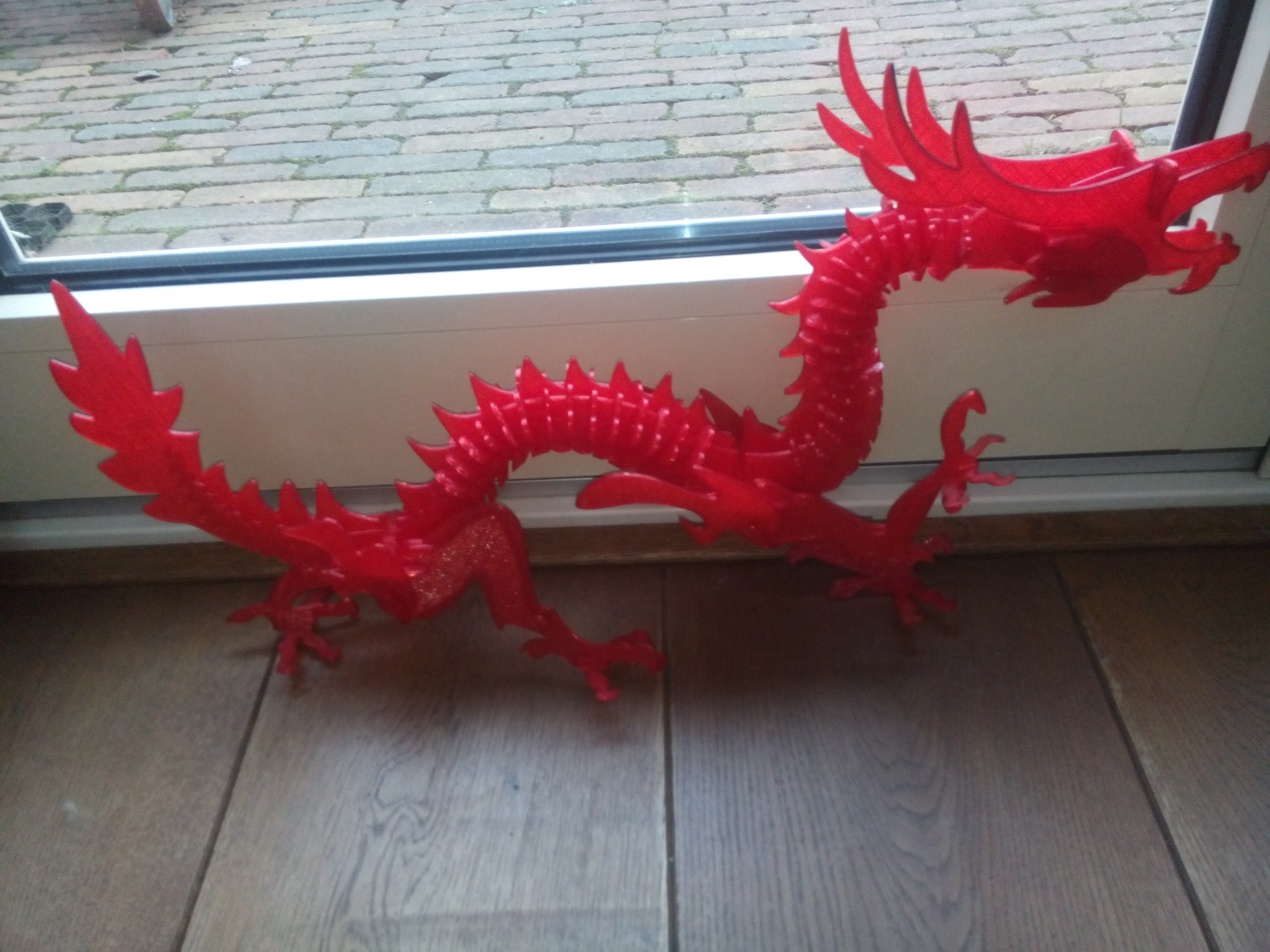 3D Printed 3D Printable Dragon Puzzleels_Meulendijks   Pinshape - Printable Dragon Puzzle