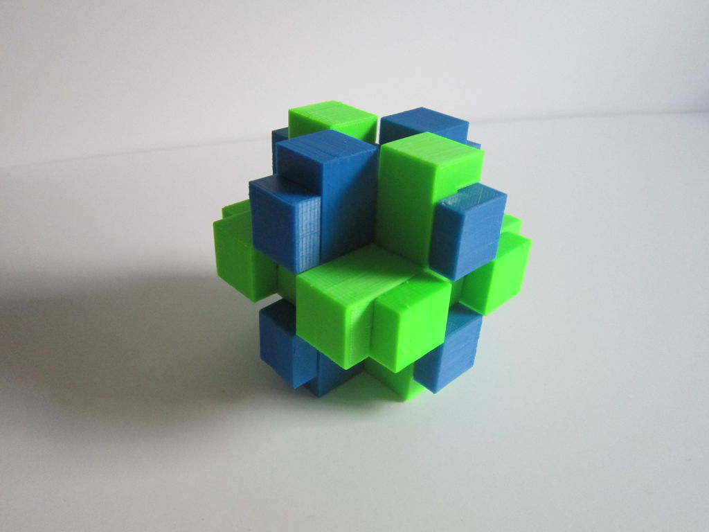 3D Printed Brain Teaser Puzzle: 4 Steps (With Pictures) - 3D Printable Puzzles
