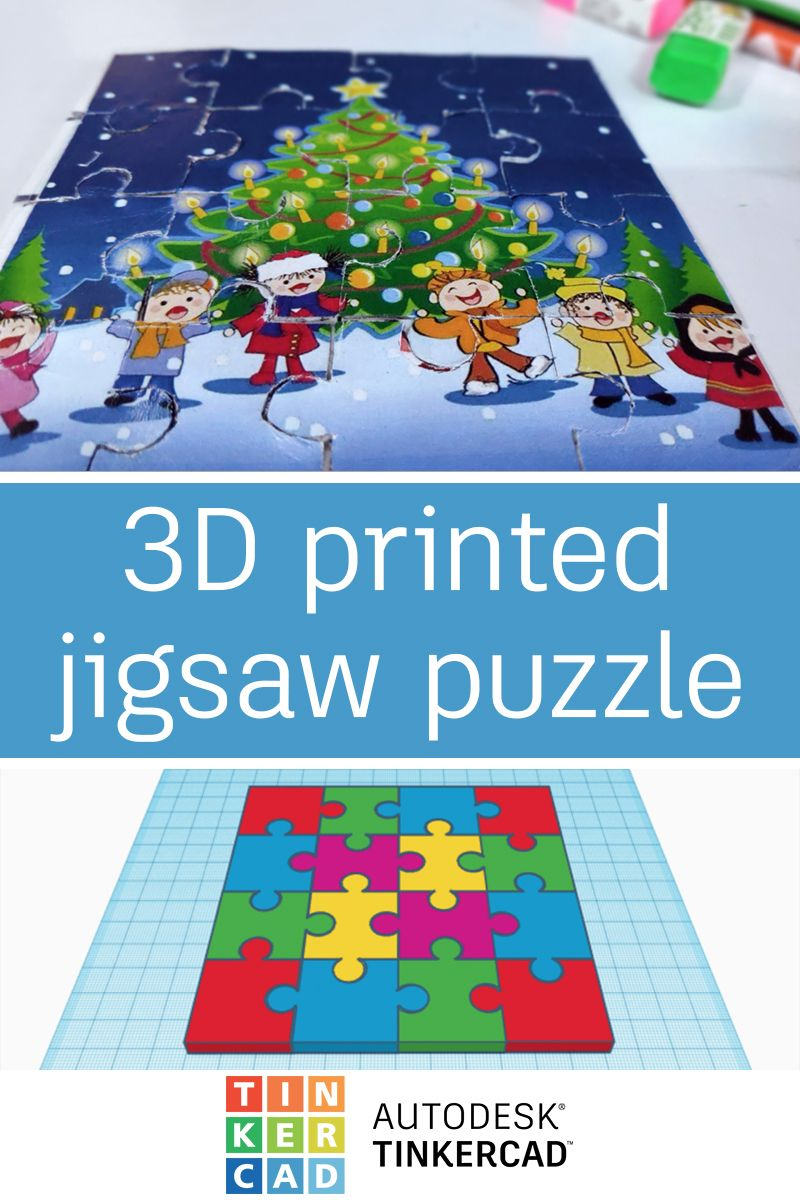 3D Printed Jigsaw Puzzle | Making With Tinkercad | Jigsaw Puzzles - Print Jigsaw Puzzle