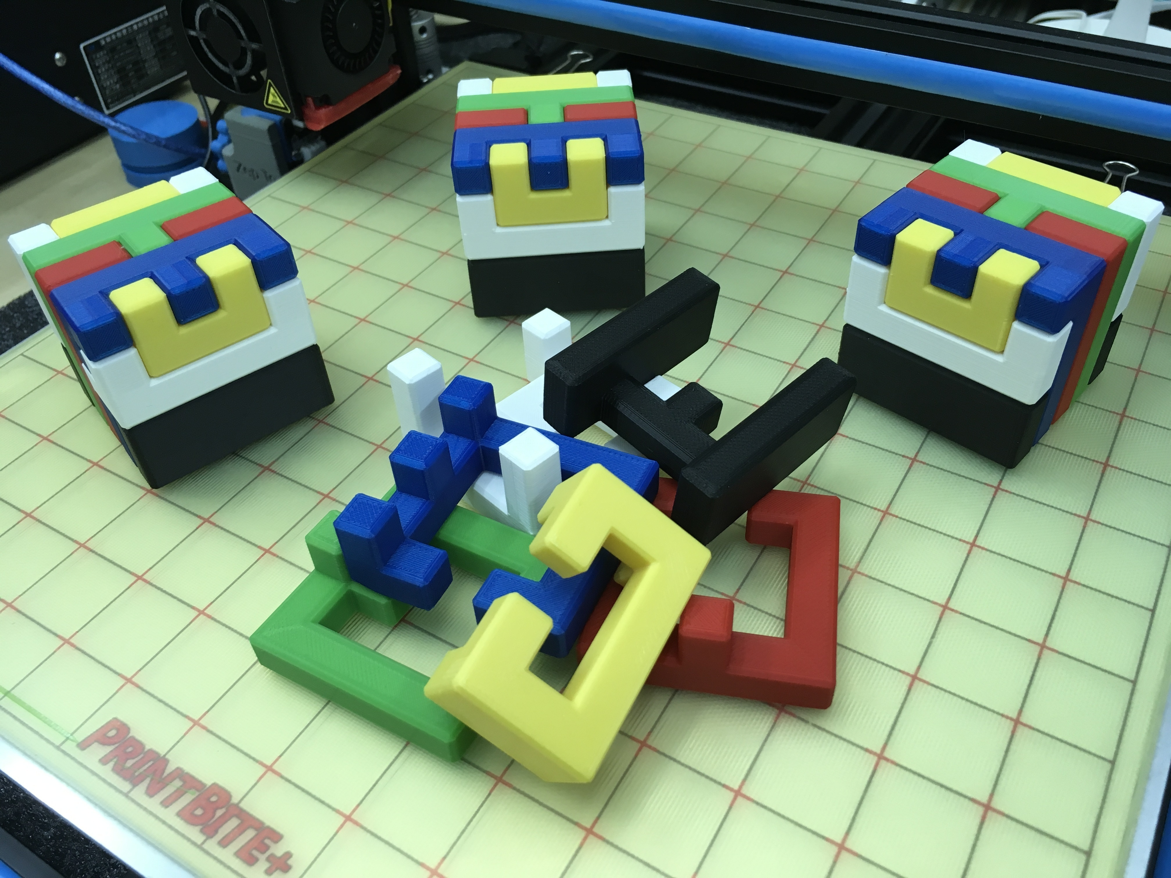 3D Printed Printable Interlocking Puzzle #4 - Level 11Richgain - 3D Printable Puzzles
