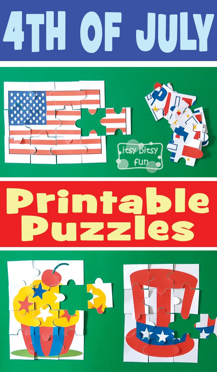 4Th Of July Printable Puzzles For Kids - Itsy Bitsy Fun - Printable July 4Th Puzzles