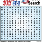 4Th Of July Word Search, History Quiz And More! | Childrens Church   Printable Fourth Of July Crossword Puzzles