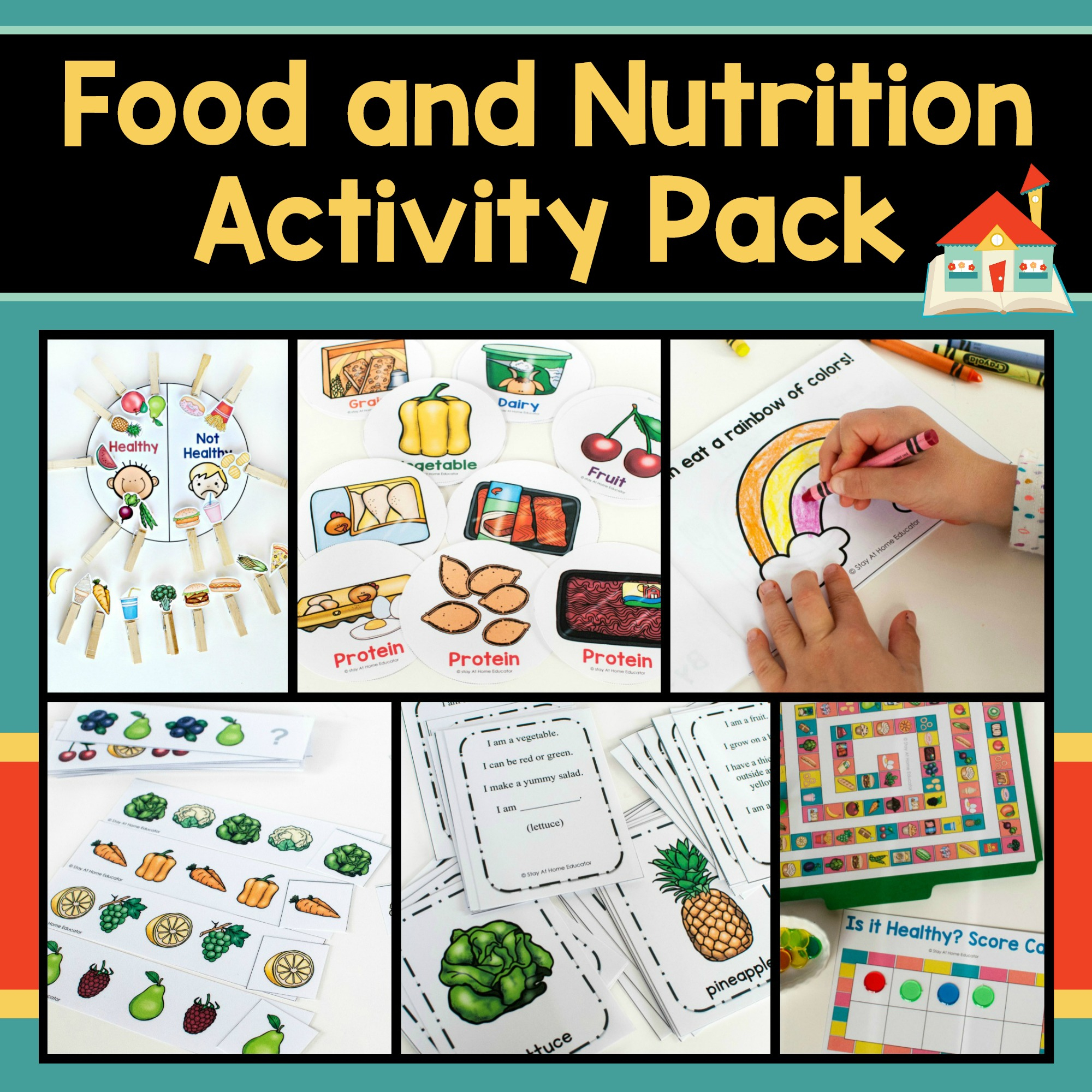 6 Printable Food And Nutrition Activities For Preschoolers - Printable Nutrition Puzzles For Adults