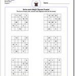 6X6 Magic Square Normal Set 1 Worksheet #magic #square #worksheet   Printable Kenken Puzzles 6X6