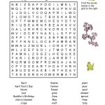 7 Printable Spring Word Searches | Kittybabylove   Printable Crossword Puzzles Spring