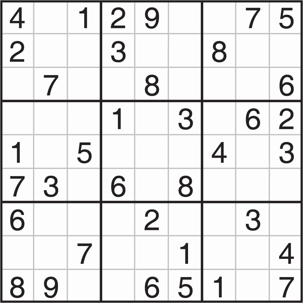 7@ Sudoku Puzzles To Print | Logo Logo Site - Printable Sudoku Puzzles 2 Per Page