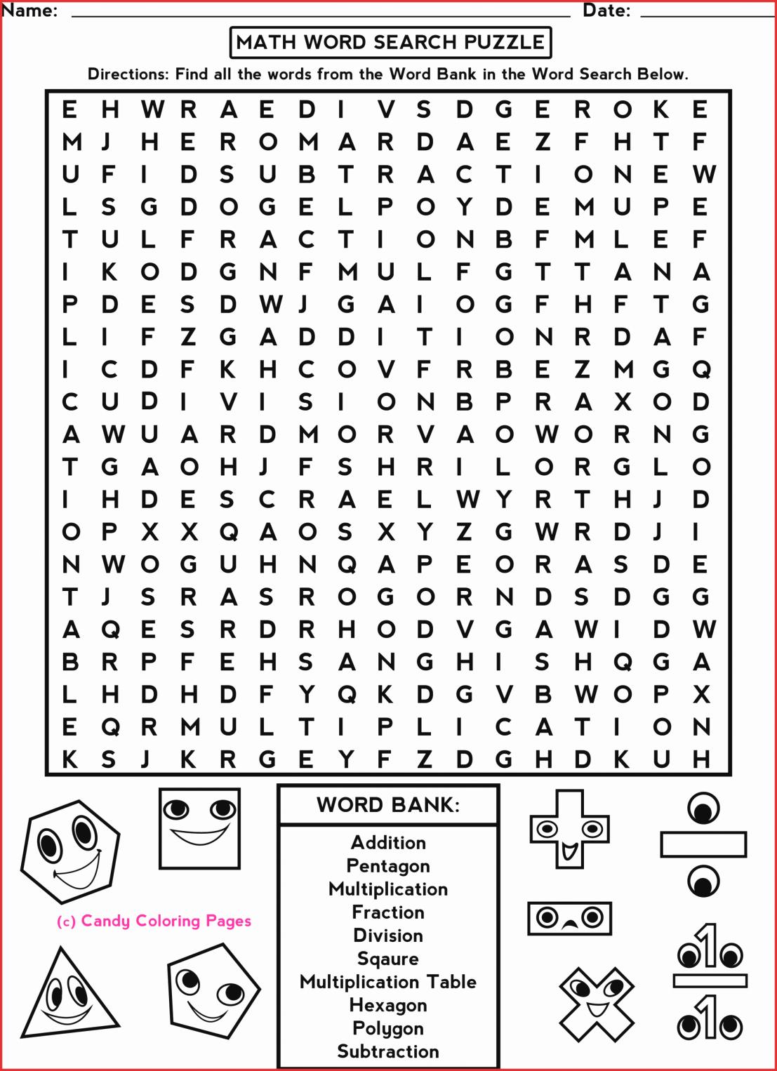 7Th Grade Crossword Puzzles Fresh 7Th Grade Math Word Search - Printable Crossword Puzzles For 7Th Graders