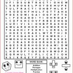 7Th Grade Crossword Puzzles Fresh 7Th Grade Math Word Search   Printable Crosswords For 6Th Grade