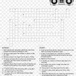 80's Crossword Puzzle   Crossword Puzzle Free Printable, Hd Png   Printable Automotive Crossword Puzzles