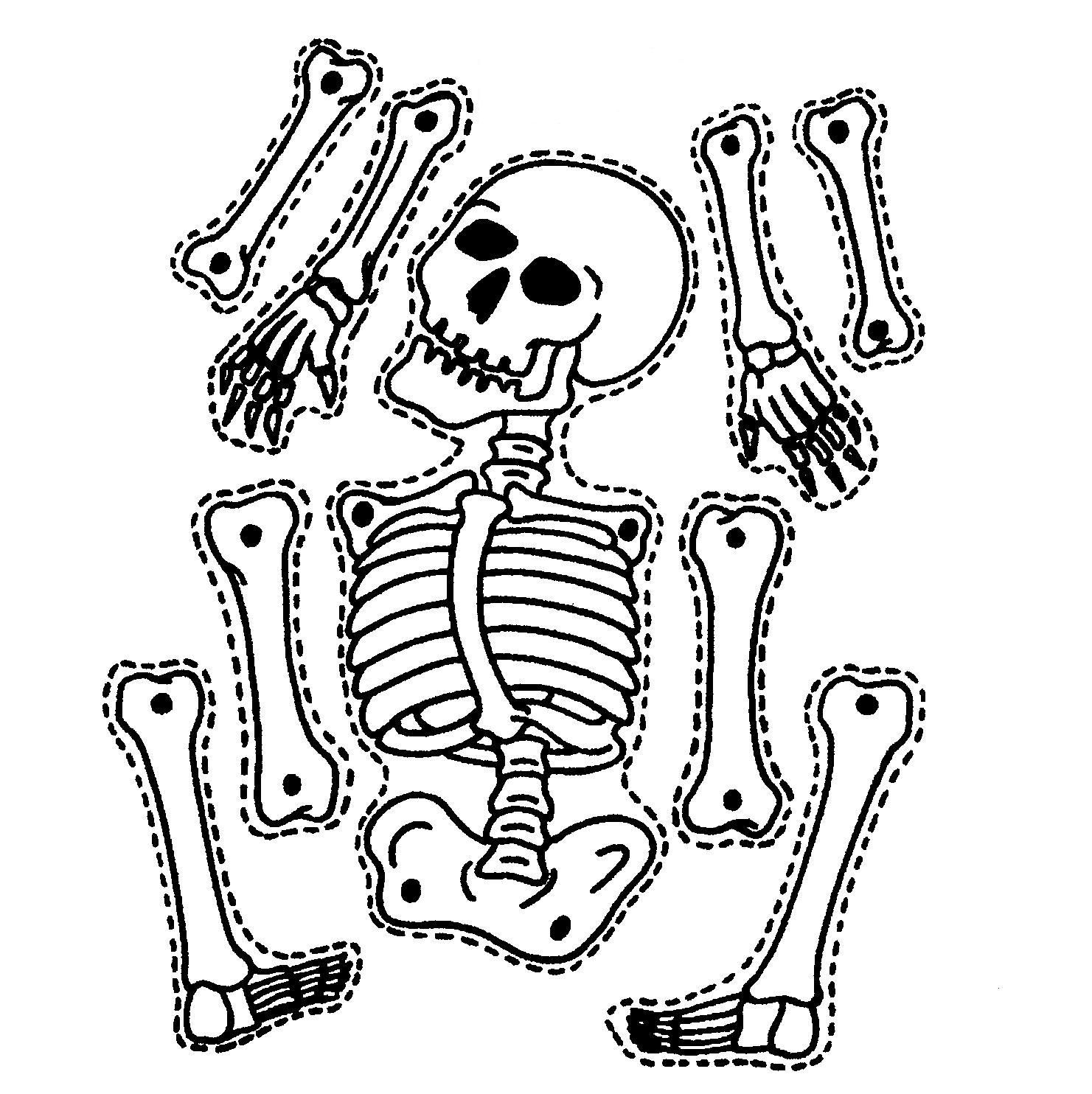 9 Printable Skeleton Crafts | Printable Pages | Halloween Skeletons - Printable Skeleton Puzzle