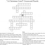 "A Christmas Carol"" Crossword Puzzle Crossword   Wordmint   A Christmas Carol Crossword Printable"