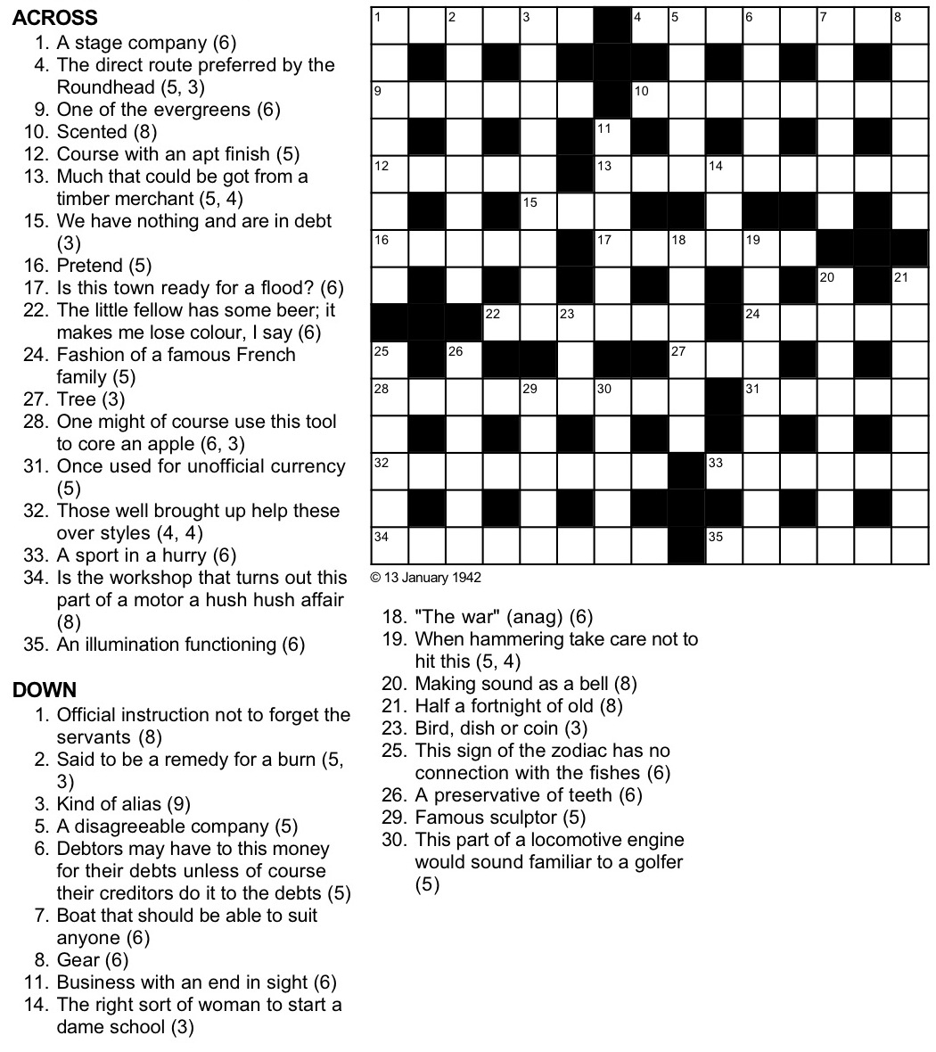 A Cryptic Tribulation Turing Test Crossword Puzzle - Printable Telegraph Crossword