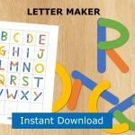 Abc Puzzle Preschool Printable Alphabet Letter Builder File | Etsy   Printable Abc Puzzle