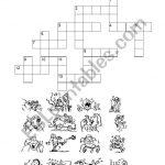 Action Verbs   Crossword Puzzle   Esl Worksheetpaoldak   Verbs Crossword Puzzle Printable