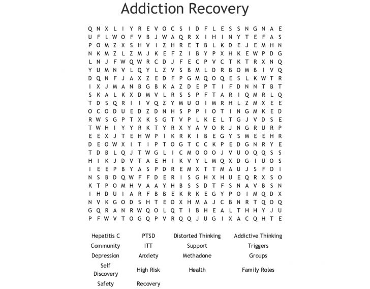 Printable Recovery Puzzles