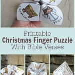Adorable Printable Christmas Finger Puzzle With Bible Verses   These   Printable Finger Puzzle