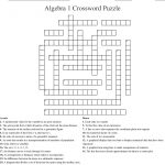 Algebra 1 Crossword Puzzle Crossword   Wordmint   Algebra Crossword Puzzle Printable