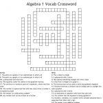 Algebra 1 Vocab Crossword   Wordmint   Algebra 1 Crossword Puzzles Printable
