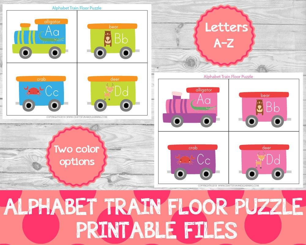Alphabet Train Floor Puzzle Preschool Printables Learning | Etsy - Printable Floor Puzzle