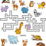 Animals Crossword Puzzle For Studying English Vocabulary | Free   Printable Crossword Puzzles For English Vocabulary