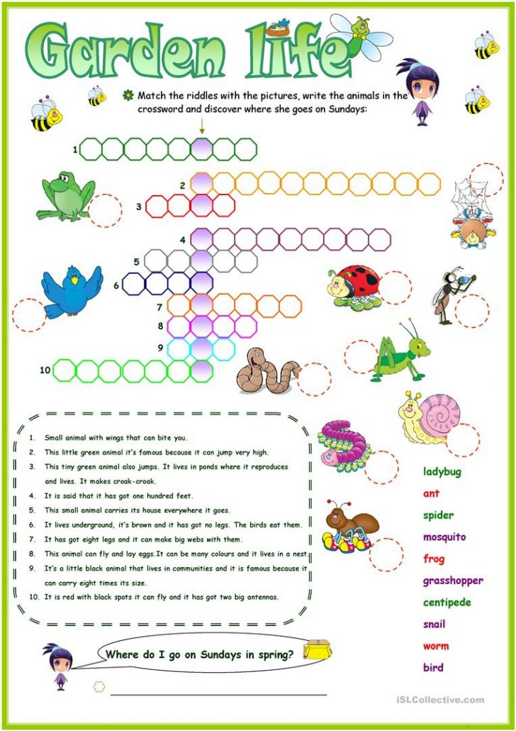 Printable Garden Crosswords